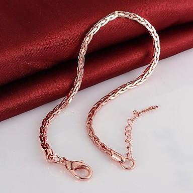 Γυναικεία Βραχιόλια με Αλυσίδα & Κούμπωμα Επιχρυσωμένο Κοσμήματα Για Γάμου Πάρτι Καθημερινά Causal 1pc