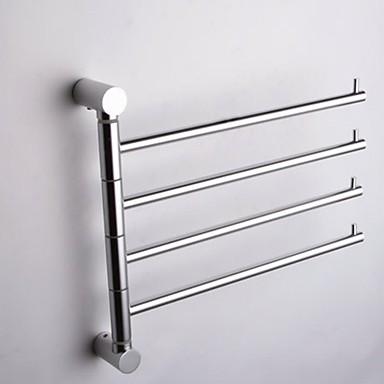 Handdoekstang / Zilver Aluminium /Hedendaags
