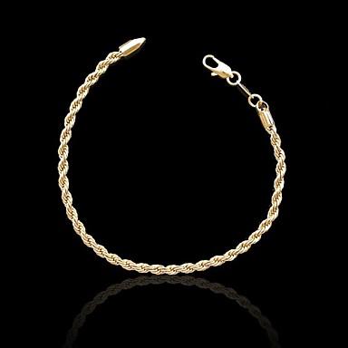 Heren Dames Armbanden met ketting en sluiting Verguld Sieraden Voor Bruiloft Feest Dagelijks Causaal Sport 1 stuks