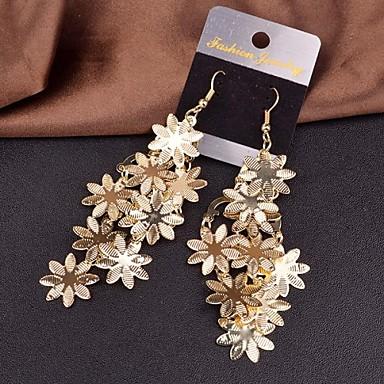 Druppel oorbellen Legering Bloemvorm Zilver Gouden Sieraden Voor Bruiloft Feest Dagelijks Causaal