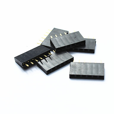 jtron 2,54 milímetros arremesso única linha pin header de 40 pinos - preto (6pcs)
