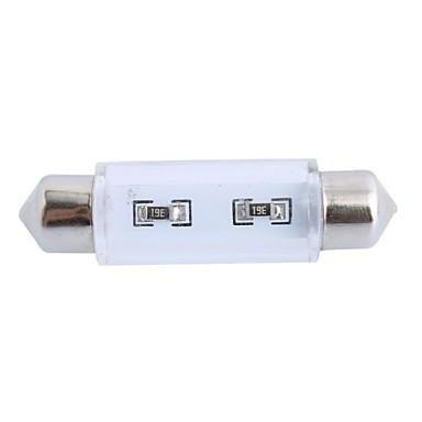 gc® 41mm 1.5W 100lm 6000K 8x3528 SMD witte LED voor in de auto lezen / kenteken / deur lamp (12V)