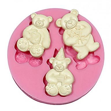 teddybeer siliconen cake&chocoladevorm cakevorm, bakhulpmiddel