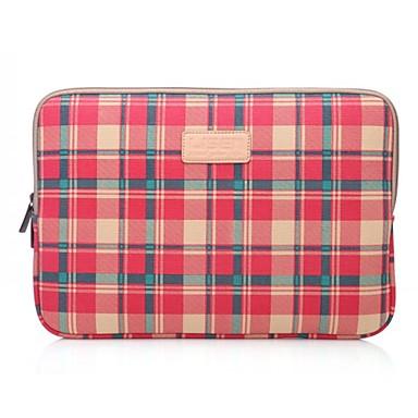 lisen 10 '' 11 '' 12 '' rode plaid patroon beschermende hoes laptop tas