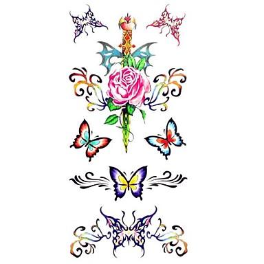 1 - 18.5*8.5cm - Πολύχρωμο Σειρά Άνιμαλ - Αυτοκόλλητα Τατουάζ - Μοτίβο/Χαμηλά στην Πλάτη/Waterproof - από Χαρτί για Γυναικεία/Ενήλικες/Εφηβικό