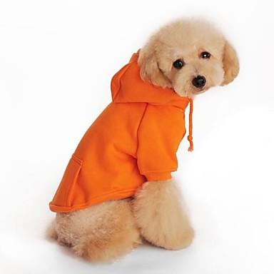 Cachorro Camisola com Capuz Roupas para Cães Preto Laranja Cinzento Vermelho Algodão Ocasiões Especiais Para animais de estimação Homens