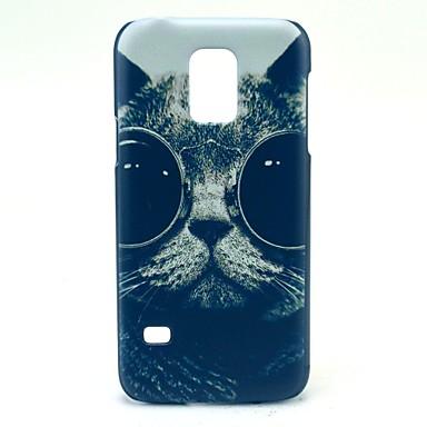 Για Samsung Galaxy Θήκη Με σχέδια tok Πίσω Κάλυμμα tok Γάτα PC Samsung S5 Mini