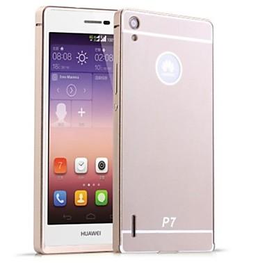 Para Capinha Huawei Cromado Capinha Capa Traseira Capinha Cor Única Rígida Acrílico Huawei Huawei P7