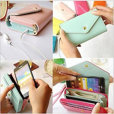 Samsung S3 I9300/S4 I9500/S5 I9600 - Full Body Cases - Naam Merk Stijl - Samsung mobiele telefoon (Blauw/Bruin/Roze/Geel/Roos/Orange/Lichtblauw ,PU