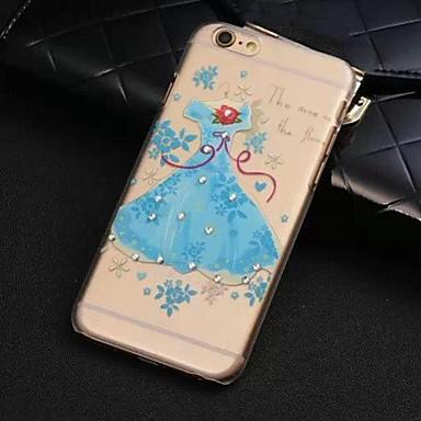 Design Especial/Diamond / Rhinestone Decorado Caixa - iPhone 6 Plus - Cases Cobertas com Joias/Cobertura de Trás (Azul , Policabornato)