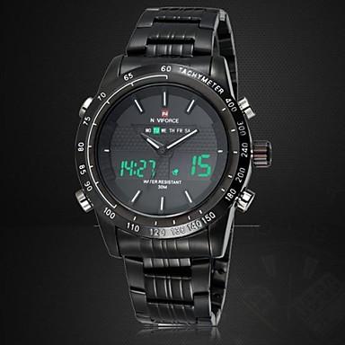 NAVIFORCE Heren Sporthorloge Polshorloge Digitaal horloge Kwarts Digitaal Japanse quartz LED Kalender Chronograaf Waterbestendig Dubbele