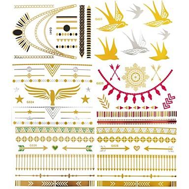 Tatoeagestickers - Waterproof - Sieraden Series - voor Dames/Girl/Heren/Volwassene/Boy/Tiener Papier - 10 - stuks 15x11.5x0.05 CM