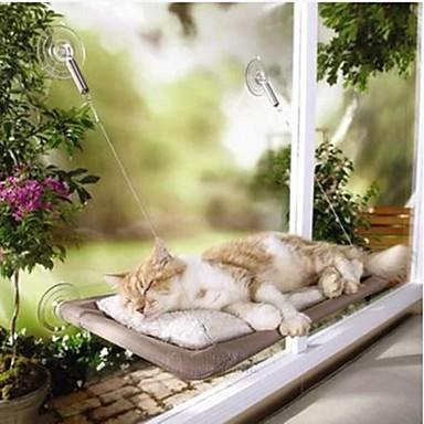رخيصةأون مستلزمات وأغراض العناية بالكلاب-نافذة القط أرجوحة آلة الحيوانات الأليفة سرير غطاء قابل للغسل مريحة