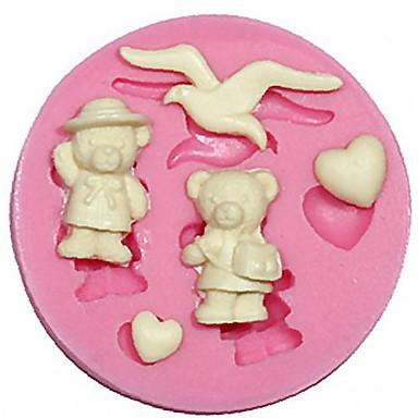 martı şekli silikon kalıp çikolata sanatları dekorasyon silikon kek kalıbı ayı silikon kalıp fondan kek&el sanatları