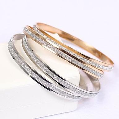 Kadın's Bilezikler - Altın gül Temel, minimalist tarzı, Zarif Bilezikler Gümüş / Altın Uyumluluk Yılbaşı Hediyeleri Düğün Hediye