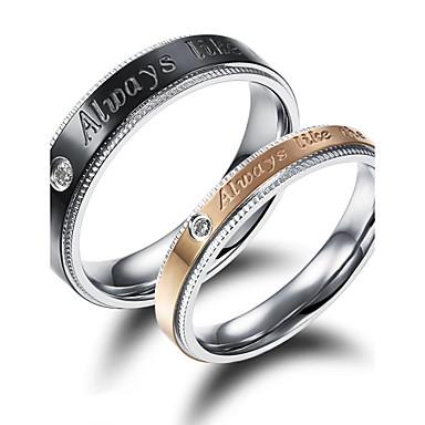 Ανδρικά Γυναικεία Δαχτυλίδια Ζευγαριού Μαύρο/Καφέ Επιχρυσωμένο 18Κ Χρυσό Love Μοντέρνα Γάμου Πάρτι Δώρο Καθημερινά Causal Αθλητικά