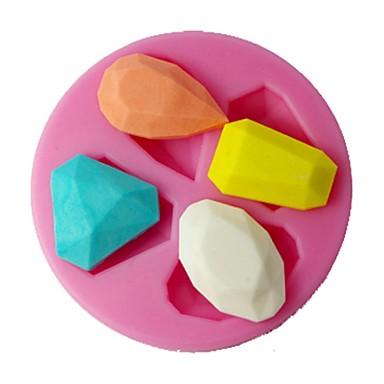 quatro c cor molde do bolo diamante molde fondant silicone decoração rosa