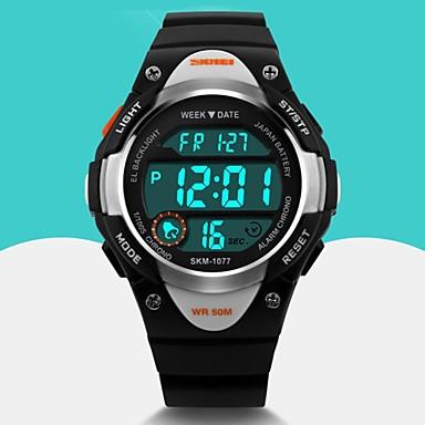 זול שעוני גברים-SKMEI בגדי ריקוד גברים שעוני ספורט שעון יד שעון דיגיטלי קווארץ דיגיטלי גומי שחור / כחול / ורוד Alarm לוח שנה מגניב דיגיטלי אופנתי - שחור כחול ורוד שנתיים חיי סוללה / Maxell626 + 2025