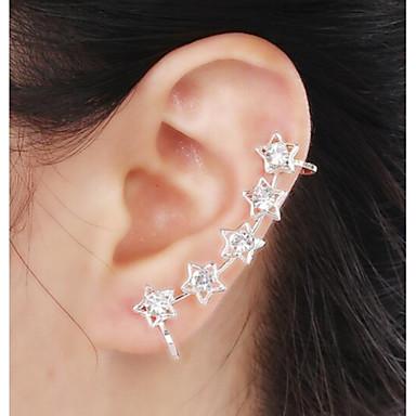 Γυναικεία Stea Στρας Προσομειωμένο διαμάντι Χειροπέδες Ear - Πολυτέλεια Πετράδια σχετικά με τον μήνα γέννησης Σκουλαρίκια Για Γάμου Πάρτι