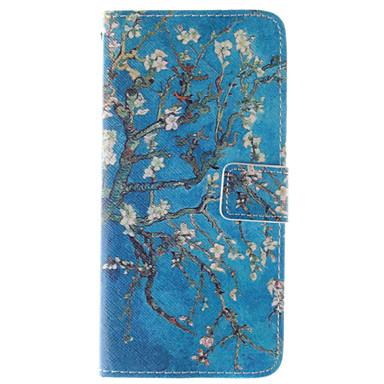 Capinha Para Apple iPhone 6 iPhone 6 Plus Porta-Cartão Carteira Com Suporte Flip Estampada Capa Proteção Completa Flor Rígida PU Leather
