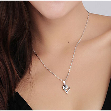 Heren Dames Sterling zilver Hangertjes ketting - Sterling zilver Initial Jewelry Modieus Kettingen Voor Bruiloft Feest Dagelijks Causaal