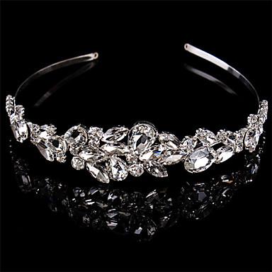 Som Gümüş / Kristal Çiçek  -  Headbands / Başlık 1pc Düğün / Özel Anlar Başlık