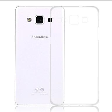 Pouzdro Uyumluluk Samsung Galaxy Samsung Galaxy Kılıf Şeffaf Arka Kapak Tek Renk TPU için A5