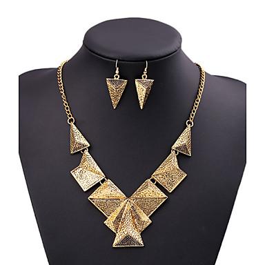 Pentru femei Seturi de bijuterii Aliaj Τρίγωνο Design Unic Nuntă Party / Seara Zilnice Afaceri Zilnic Costum de bijuterii