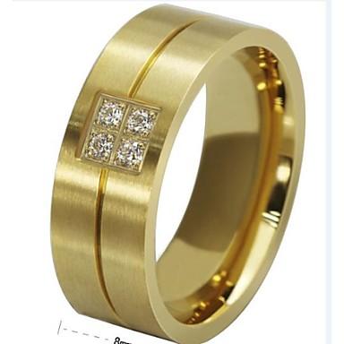 Heren Bandringen Kostuum juwelen Titanium Staal Sieraden Voor Bruiloft Feest Dagelijks Causaal Sport Kerstcadeaus