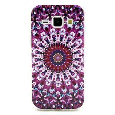 Para Samsung Galaxy Capinhas Case Tampa Estampada Capa Traseira Capinha Flor PUT para Samsung Galaxy J1