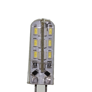 SENCART 180-220 lm G4 Lâmpadas Espiga T 24 leds SMD 3014 Decorativa Branco Quente Branco Frio DC 12V AC 220-240V AC 12V