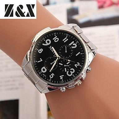 Kadın's Bilek Saati Quartz Gündelik Saatler Alaşım Bant Moda Zarif Elbise Saat Gümüş - Beyaz Siyah Bir yıl Pil Ömrü / SSUO 377