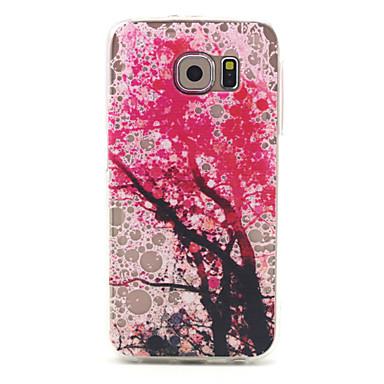 Para Samsung Galaxy Capinhas Estampada Capinha Capa Traseira Capinha Árvore TPU Samsung S6