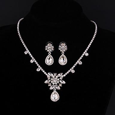 Dames Bergkristal Bruiloft Feest Speciale gelegenheden  Verjaardag Verloving Legering Oorbellen Kettingen