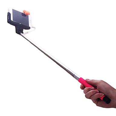 Bastão para Selfie Cabeada Extensível Comprimento máximo Universal Android iOS Apple Samsung Galaxy Huawei