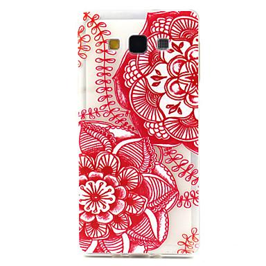 rode mandala patroon ultradunne TPU soft Cover Case voor de Samsung Galaxy a5