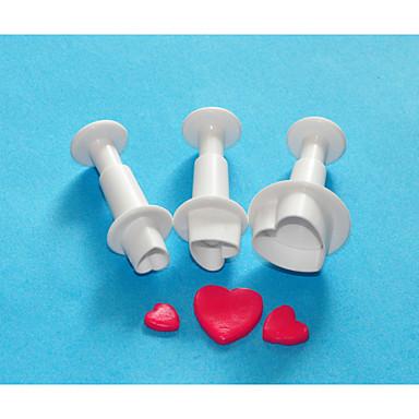 four-c zoete hart taart decoreren Plunger Cutter set, cake ontwerp cutters, klassieke taart apparatuur / gereedschappen