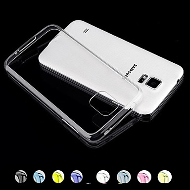 Coque Pour Samsung Galaxy Samsung Galaxy Coque Transparente Coque Couleur Pleine PC pour S5