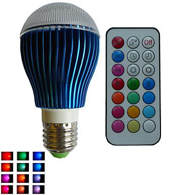 E26/E27 Lâmpada Redonda LED A80 3PCS leds LED de Alta Potência RGBlm RGB Regulável Controle Remoto Decorativa AC 85-265