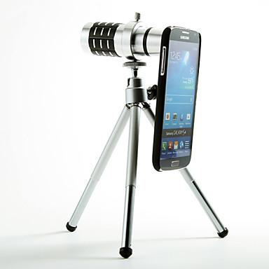 Ayrılabilir 12X Telefoto Lens Samsung Galaxy S4 I9500 için Case Arka Seti