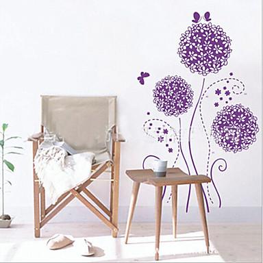 flor roxa motivo PVC autocolante