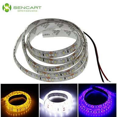 SENCART 1m Esnek LED Şerit Işıklar 120 LED'ler Beyaz / Mavi / Sarı Kesilebilir / Su Geçirmez 12 V / IP68