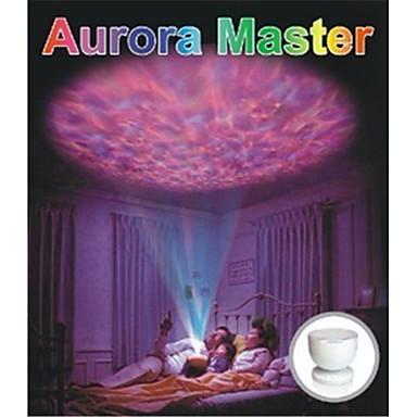 0.25W colorido lâmpada de projecção de cor com um usb som levou luz noite