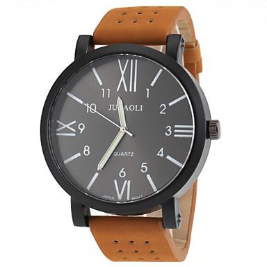 JUBAOLI Masculino Relógio Militar Relógio de Moda Quartzo Couro Banda Laranja Azul Branco/Vermelho Branco-Preto Preto