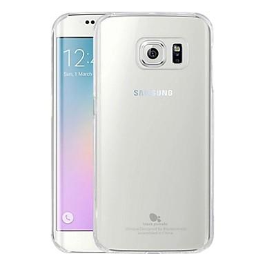 Para Samsung Galaxy Capinhas Transparente Capinha Capa Traseira Capinha Cor Única PC Samsung S6 edge