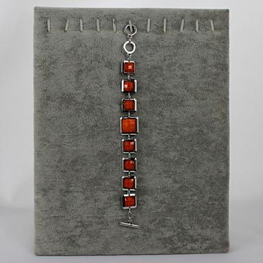 Γυναικεία Βραχιόλια με Αλυσίδα & Κούμπωμα Ρητίνη Κράμα Πορτοκαλί Κοσμήματα Για Πάρτι Causal 1pc