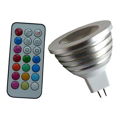 4W 350-450 lm GU5.3(MR16) LED Spot Işıkları MR16 1PCS led Yüksek Güçlü LED Kısılabilir Dekorotif Uzaktan Kumandalı RGB AC 12V DC 12V