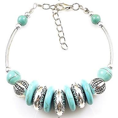Women's Turquoise Charm Bracelet Strand Bracelet - Blue Bracelet For Wedding Party Daily
