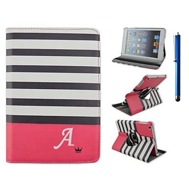 Pouzdro Uyumluluk iPad Air Satandlı Origami 360° Dönüş Tam Kaplama Kılıf Çizgiler / Dalgalar PU Deri için iPad Air