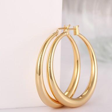 Γυναικεία Κρίκοι Μοντέρνα Επιχρυσωμένο Με Επίστρωση Ροζ Χρυσού Circle Shape Geometric Shape Κοσμήματα Κοστούμια Κοσμήματα